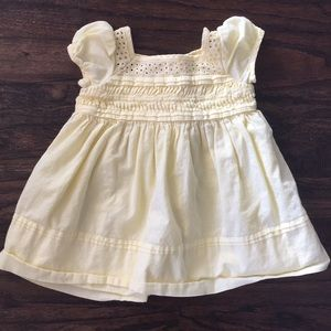 Ralph Lauren Yellow Eyelet Dress